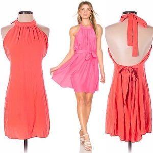 Amanda Uprichard 100% Silk Halter Dress Peach Sz S